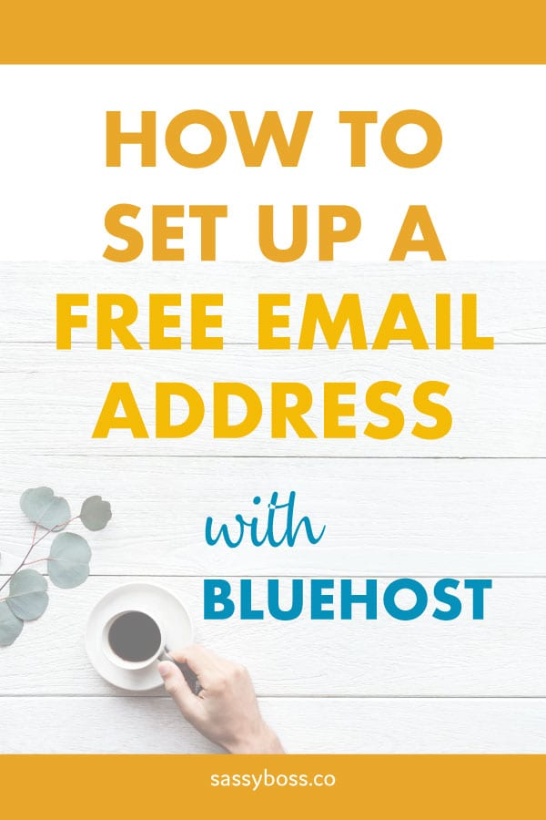 How to set up a free email address on Bluehost