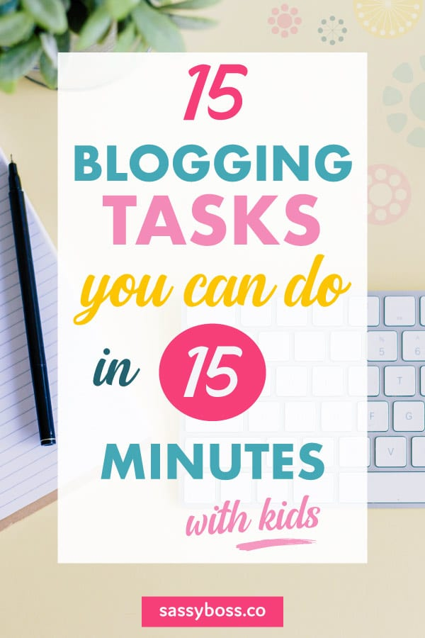blogging tasks for productivity
