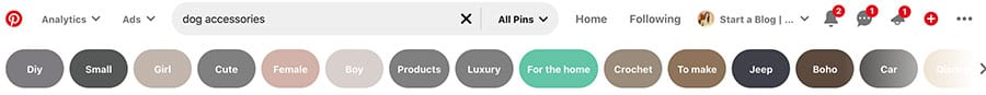 Using Keywords to help you monetize Pinterest