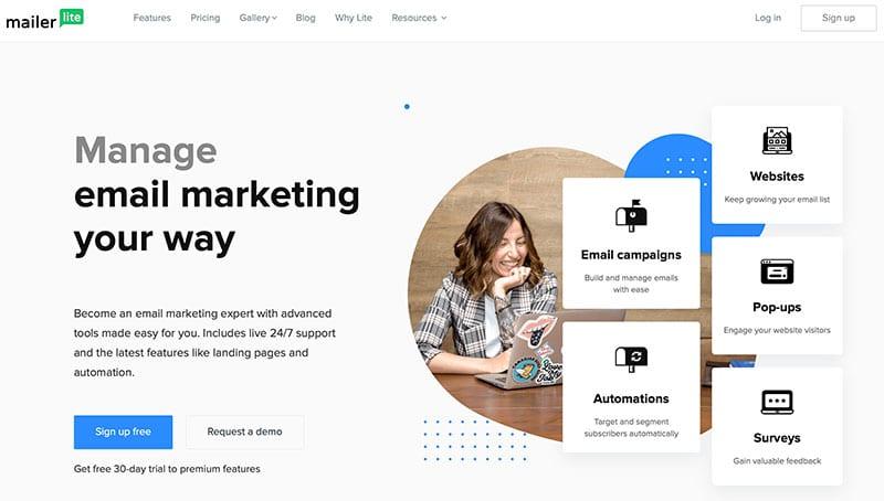 email marketing platform Mailerlite
