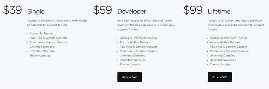 wordpress themes unlimited licence